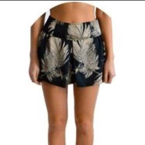 ISO Plastic Island Gold Feather / Palm Leaf Shorts